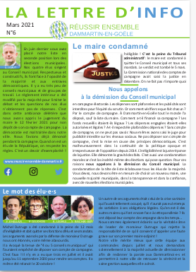 Illustration de la Lettre d'Info n° 6